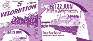 <small>22 juin :</small>  une 5<sup>ème</sup> Vélorution, en musique !